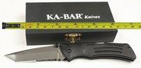 ka-bar - New Ka Bar Aluminium handle Serrated Blade Folding blade Survival Tactical hunting knife camping knife knives DFF076