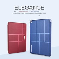 adjustable ipad case - NILLKIN Waterproof Leather Geometric Shapes Adjustable Stand Case For iPad Air quot Tablet Smart Flip Case For iPad