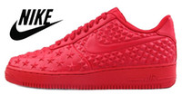 shoe factory - Nike AIR FORCE VT Independence Day Men Women Sports Skateboarding Shoes AF1 Factory Outlet Stars Black White shoes