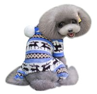 arrival pet outwear - New Arrivals Pet Dog Supplies Apparel Puppy Cute Warm Winter Soft Sweater Hoodie Jumpsuit Coat Clothes Outwears DX238