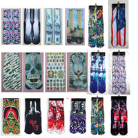 Wholesale Mix color basketball street D socks men galaxy hip hop socks cotton printed odd sox sports socks Unisex stockings pair FreeDHL E44L