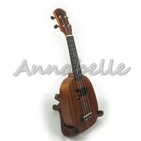 Wholesale Mahogany inch Ukulele Soprano Cute Pineapple Hawaii Small Guitar Wood Uke four Strings Musical Instruments