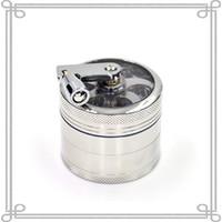 Wholesale 56mm Hand Crank Herb Grinder Metal Herb Grinders With Parts Zinc Alloy Herb Grinder Machine