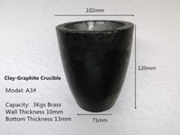 scrap brass - A3 Clay Graphite Crucible for kg brass casting high quality graphite ingot mould Mould to Melt Scrap Gold