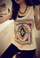Wholesale 1 Summer Women Cotton Top Vest Tank Tops Printed Loose Tees Camis CW21086
