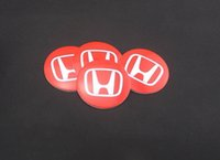 aluminum window capping - Mixed set mm Car Auto Tyre Wheel Center Cover Stickers Hub Cap Stickers Emblems Badges Decals Fit H O N D A Red
