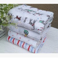 Wholesale 120 cm Aden Anais Muslin Swaddle Blanket Newborn Baby Bath Towel Aden And Anais Swaddle Blankets Functions Baby Swaddle Blanket m001047