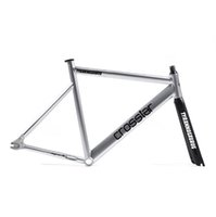 aluminium fiber - fixed gear frame with carbon fiber fork velo frameset carbon colorful aluminium frame