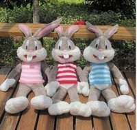 Wholesale 2015 Bugs Bunny Bean Stuffed Plush Animals Toys Children Gifts Rabbit Easter Vest Plush Warner Bros Studio Looney Tunes Rabbits Toy D3807