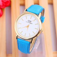 cheap watches - Cheap price daniel wellington watch for woman high quanlity leather wrist band with DW logo quartz watches W