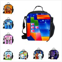 Cheap 1504-Trendy Game Mincraft lunch bags kids food thermal bag small creeper lunchbox for boys children outdoor lancheira picnic bag-Wholesale