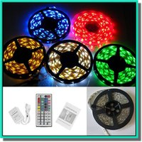 Wholesale waterproof IP65 LED M SMD RGB led string super bright led strip with retail box non waterproof also on sale