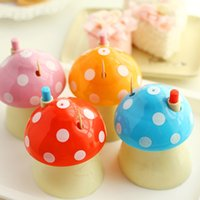 Wholesale Toothpick Holder Cute little mushroom toothpick box automatic toothpick holder creative toothpicks cans