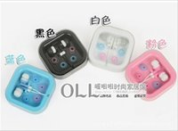 apple computers - Fashion Korean Headset Candy Color Box Headset Anti Noise Earbuds Earphones For phones MP3 Computer Ipad Wired Earphone headsets