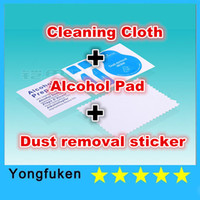 Wholesale LCD Screen Microfiber Cleaner Cloth Dust removal sticker Alcohol Prep Pad for Glasses Camera Lens LCD Screen Cellphone BU