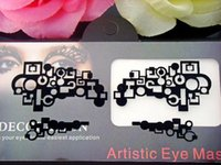 artistic eyeliner - Addict halloween Artistic eye mask Lace Face crystal eyeliner sticker false eyelashes