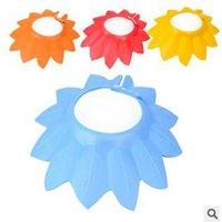 Wholesale 3pcs Next EVA shower cap for child resizable colorful children bath cap years old