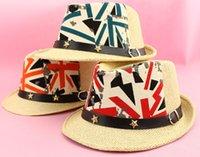 Cheap New Fashion Children Straw Hats Buckle Belt Kids Boys Girl Casual Summer Sun Hat Cap Wholesale