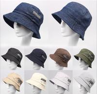 Wholesale Bucket Hat For Men and Women Visor Hat Caps Men Sunbonnet Men Topee Classic Boys Girls Solid Color Cap Fashion Casual Cotton Hats
