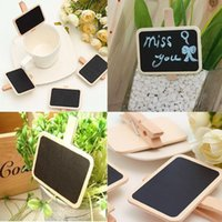 Wholesale Amazing Mini Blackboard Chalkboard Labels Holder Message Clip Hot