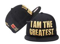 Wholesale Men s hip hop style caps Muhammad Ali I AM THE GREATEST adjustable snapback hats