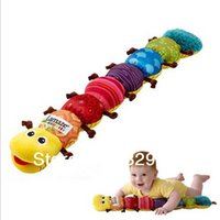 caterpillar parts - 2014 New Parts Caterpillar Rattle Baby Toys Brown Green Foot Foot Vocalization Electronic Toys
