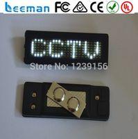 led signs - Leeman led name badge mini programmable led name badge sign billboard panel display screen