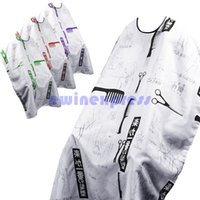 Wholesale Hairdressing Gown Cutting Cape Hair Design Cut Salon Hairstylist Barber Nylon Cloth Wrap Protect Japanese Writing Sketch