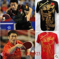 Wholesale Li Ning Man s Table Tennis T Shirt Ping Pong blue black red China Team