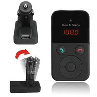 Wholesale Wireless Bluetooth Car Kit FM Transmitter MP3 Player LCD Display Support SD USB Remote Control CAU_303