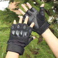 Wholesale Tactical half gloves Non slip combat black hawk outdoor military enthusiasts fitness cycling gloves for men