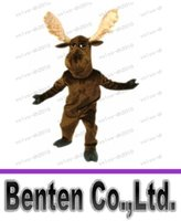 adult moose costume - Newest Christmas Mascot Moose Mascot Costume Adult Size Cartoon Character Holiday Carnival Party Outfit Suit Fancy Dress LLFA1197