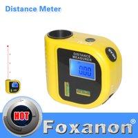 Wholesale 18M Mini Ultrasonic Digital Tape Measure Laser Range Finder Distance Meter Laser Pointer Rangefinder Level Tool