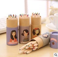 art supplies colored pencils - Korean Style Miss COCO Design Colored Pencils Kawaii Stationery for Art Drawing Kids Graffiti Office School Supplies