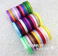Wholesale 10mm Width ribbon cloth silk ribbon Wedding Party Gift Boxes packaging Ribbons Pure Color In Stock Yard