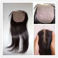 Cheap Brazilian Hair 6A Remy Silk Base Lace Closure Best Natural Color Straight Virgin Silk Base Lace Closure Straight