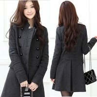 Wholesale Women Ladies Winter Fashion Casual Long Sleeve Casual Warm Long Coat Outwear Clothes