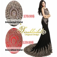 evening wear - 2015 High Quality Wedding Evening Dresses Arabic Luxury Gold Lace Appliques Gorgeous Trumpet Mermaid Prom Gowns Sheer Crew Neck Party Wear