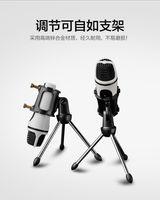 Wholesale portable microphones Zinc alloy three legged support Large diameter cm Desktop support bop net for microphones