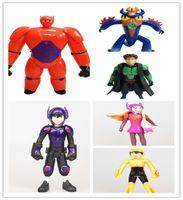 Wholesale Fashion Hot Sale Christmas New Year Cartoon Toys Gifts Big Hero Firgures Baymax Fred Go Go Tomago Honey Lemon Hiro Wasabi Figure D2886