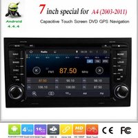 Cheap Car DVD 2Din 7 Inch Android 4.4.4 For A4 2003-2011 HD GPS Car Stereo Radio Mp3 Bluetooth IPod Wifi DVR Mirror Link Canbus OBD2