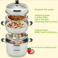 Wholesale 2015 Eco Friendly New Sale Large Steamer Pot Kitchen Cooking Steamed Taste Multi purpose Stainless Steel Ultralarge Steaming Tray