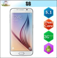 Wholesale 1 S6 G9200 G LTE phone Dual Core MTK6572 Android WiFi G WCDMA Single Micro Sim Card Bluetooth GPS show G RAM G ROM