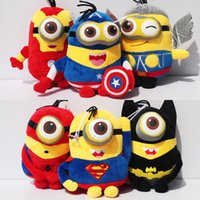 Unisex america toys - Super hero minion plush quot cm the avengers minions Captain America Superman Spider Man Batman Thor Iron Man Minions Toy