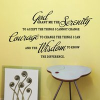bible quote wall decals - GOD GRANT ME THE SERENITY PRAYER BIBLE Art Quote Vinyl Wall Stickers Decal Home Decor Room Mural Decoration HG WS