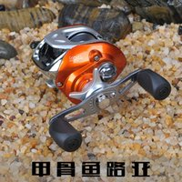 aluminum sheet metal brake - Spinning Aluminum BB bearing carretilha pesca orange magnetometer centrifugal dual brake Full Metal right hand reel