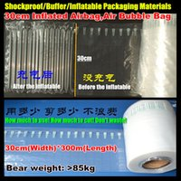 Wholesale 600M PE PA Co extrusion Film Shockproof Anti collision Buffer Inflatable Packaging Materials Inflated Airbag Air Bubble Bag pump