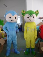 alien outfit - 1 pair Extraterrestrial Alien Kids Mascot Costume Adult Size Blue and Yellow Extraterrestrial Mascotte Outfit Suit EMS SW273