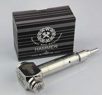Cheap Hammer style e pipe hammer mod ecig e cigarette e hammer e pipe mod Mechanical Suitable for 18350 18650 battery free shipping