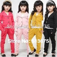 Wholesale baby clothes Hot sale Fashion elegant Girl blazer girl suit clothes set autumn children s clothing girls clothing